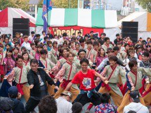 Yosakoiぶち楽市民祭(たのしみんさい)2018 @ 徳山駅前商店街銀座通り