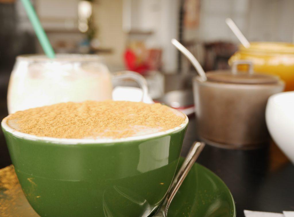 カフェ,コーヒー,海,パン,サンド