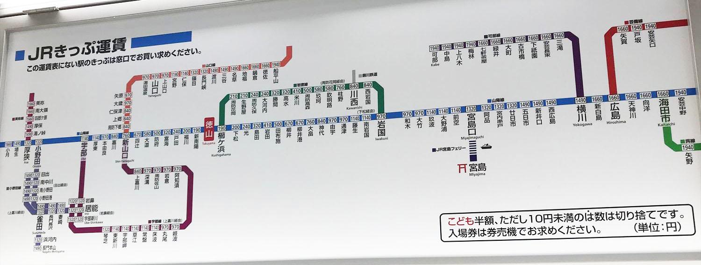 徳山駅在来線路線図