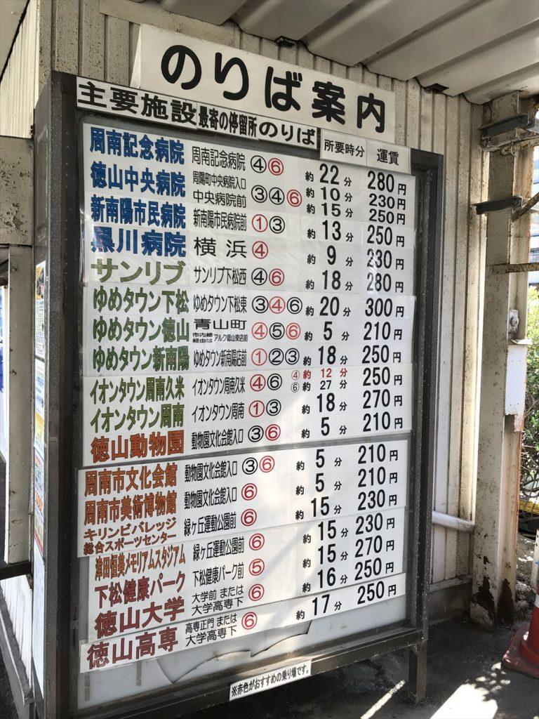 徳山駅防長バス