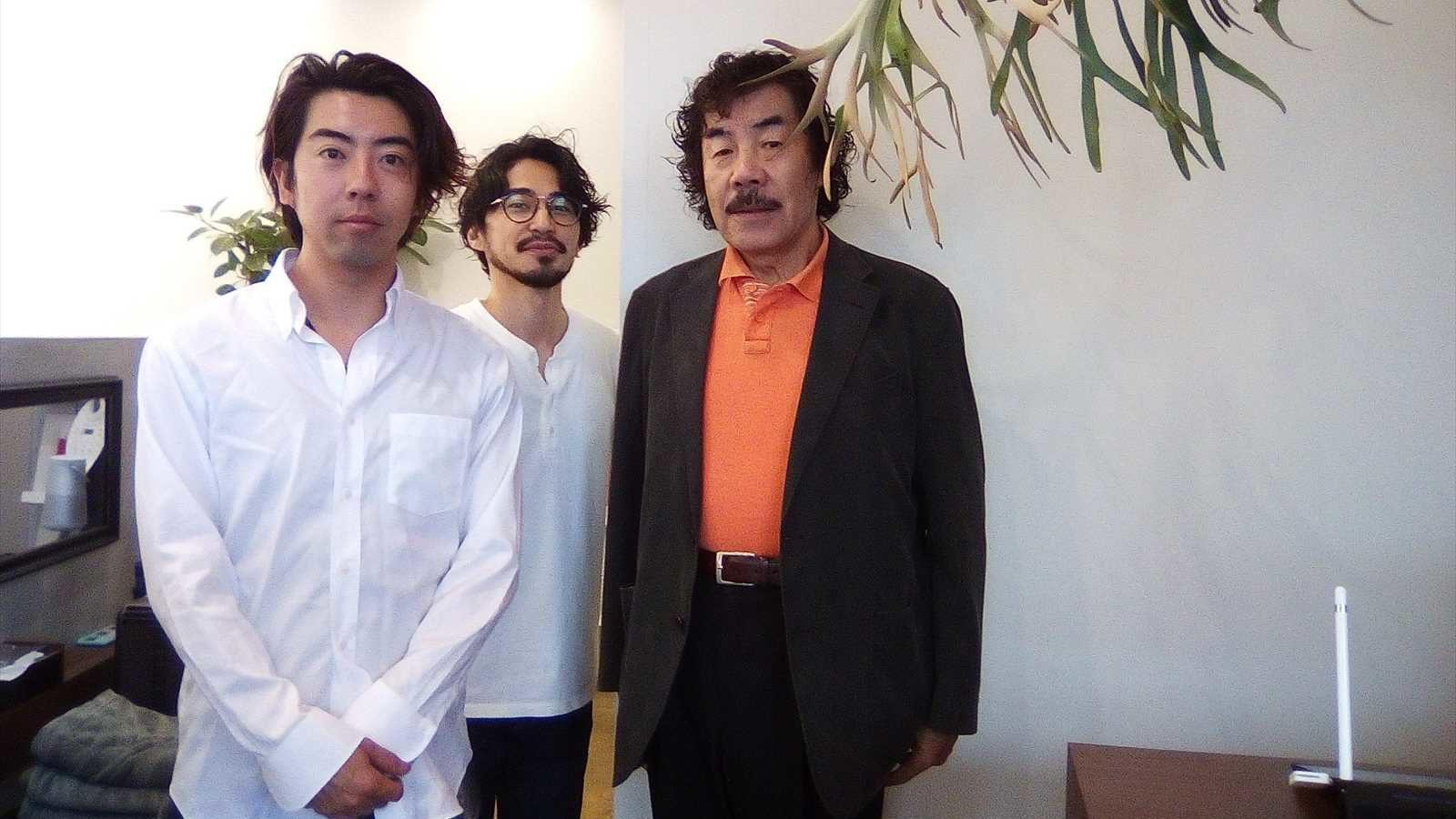 オーナー、中村さん、オーナーのお父様