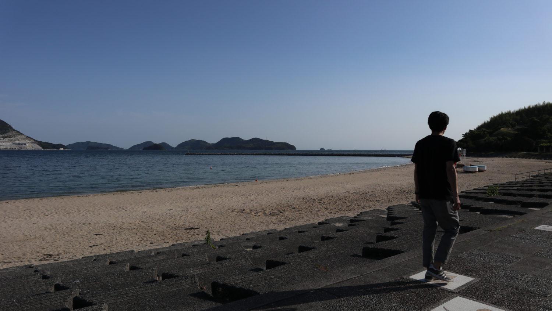 長田海浜公園の浜辺