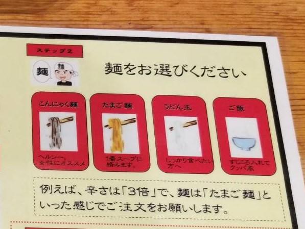 辛麺 日ノ丸 麺種類