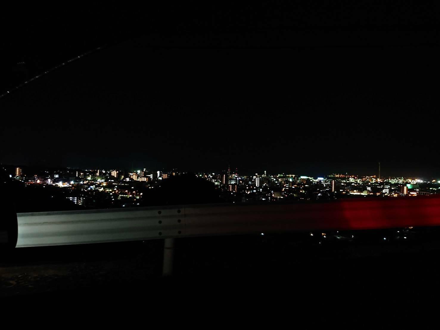 金剛山からの夜景