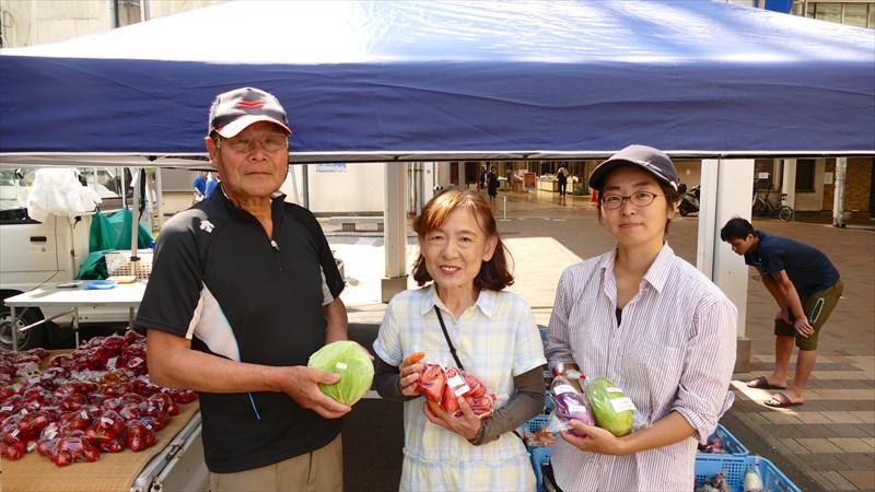 長穂から産直野菜をお届け、銀南街の出張朝市をインタビュー