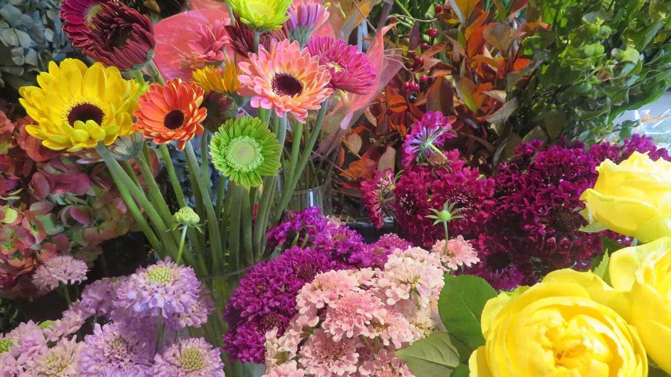 店内の生花